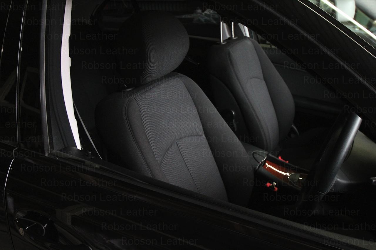 BEFRE 純正ファブリックシートから本革シートへ張替えます。革→革への張替えも可能です。(純正シートヒーター付き車のお客様はヒーターシステムの移植が必要になりますのでご相談下さい)