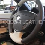 BMW E66 ステアリングリフレッシュ張り替え後