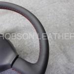 スカイライン R33 ステアリング 革巻き後